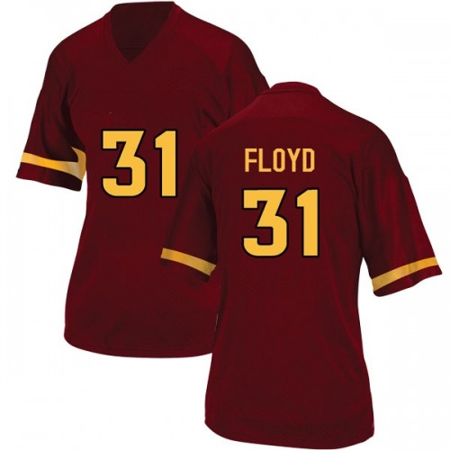 Women's Adidas Isaiah Floyd Arizona State Sun Devils Replica Maroon Football College Jersey