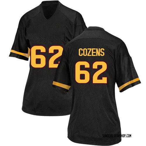 Women's Adidas Jesse Cozens Arizona State Sun Devils Game Black Football College Jersey