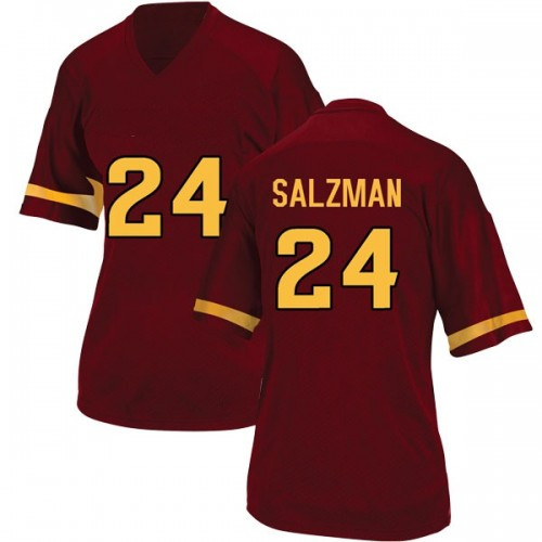 Women's Adidas Jordan Salzman Arizona State Sun Devils Game Maroon Football College Jersey