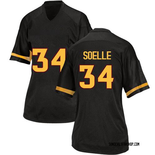 Women's Adidas Kyle Soelle Arizona State Sun Devils Replica Black Football College Jersey