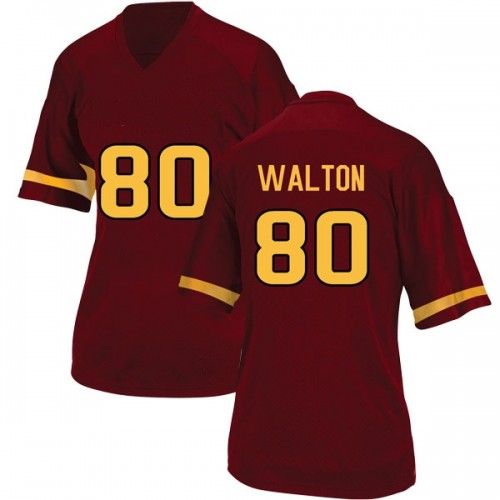 Women's Adidas Mark Walton Arizona State Sun Devils Game Maroon Football College Jersey