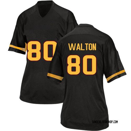 Women's Adidas Mark Walton Arizona State Sun Devils Replica Black Football College Jersey
