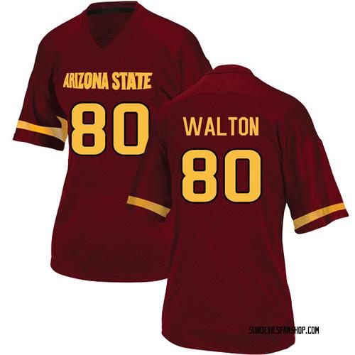 Women's Adidas Mark Walton Arizona State Sun Devils Replica Maroon Football College Jersey