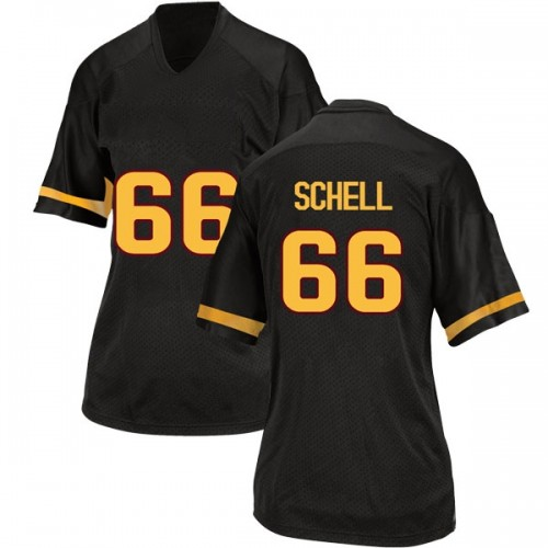 Women's Adidas Mason Schell Arizona State Sun Devils Replica Black Football College Jersey