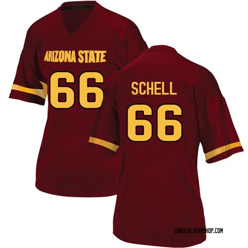 Women's Adidas Mason Schell Arizona State Sun Devils Replica Maroon Football College Jersey