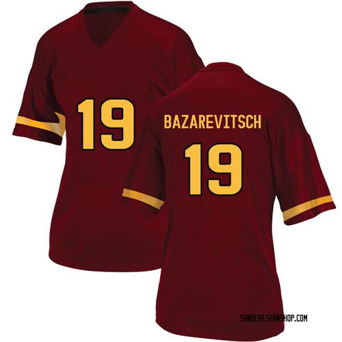 Women's Adidas Matthew Bazarevitsch Arizona State Sun Devils Game Maroon Football College Jersey