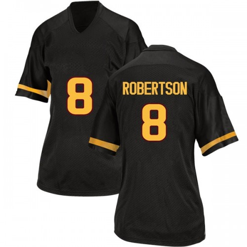 Women's Adidas Merlin Robertson Arizona State Sun Devils Replica Black Football College Jersey
