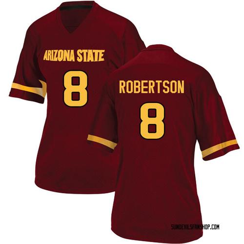 Women's Adidas Merlin Robertson Arizona State Sun Devils Replica Maroon Football College Jersey