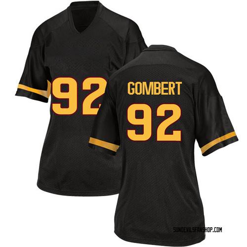 Women's Adidas Michael Gombert Arizona State Sun Devils Game Black Football College Jersey