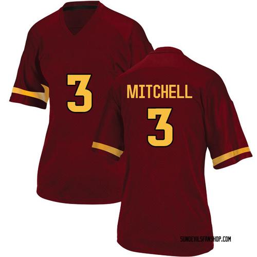 Women's Adidas Mickey Mitchell Arizona State Sun Devils Game Maroon Football College Jersey
