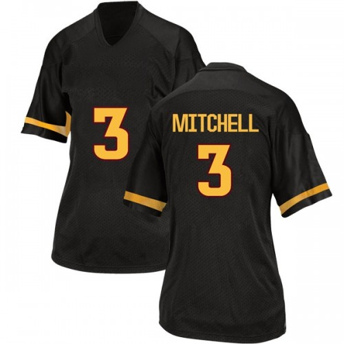 Women's Adidas Mickey Mitchell Arizona State Sun Devils Replica Black Football College Jersey