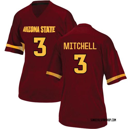 Women's Adidas Mickey Mitchell Arizona State Sun Devils Replica Maroon Football College Jersey