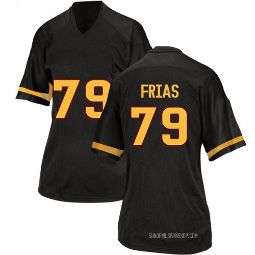 Women's Adidas Ralph Frias Arizona State Sun Devils Game Black Football College Jersey