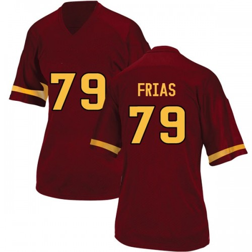 Women's Adidas Ralph Frias Arizona State Sun Devils Game Maroon Football College Jersey