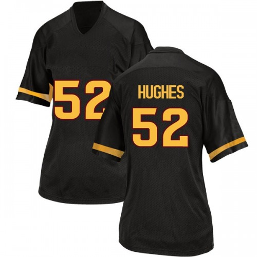 Women's Adidas Reggie Hughes Arizona State Sun Devils Game Black Football College Jersey