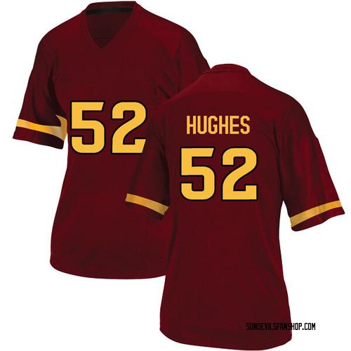 Women's Adidas Reggie Hughes Arizona State Sun Devils Game Maroon Football College Jersey