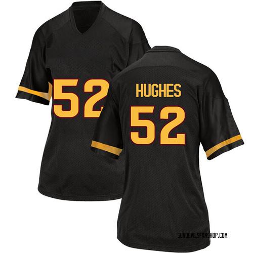 Women's Adidas Reggie Hughes Arizona State Sun Devils Replica Black Football College Jersey