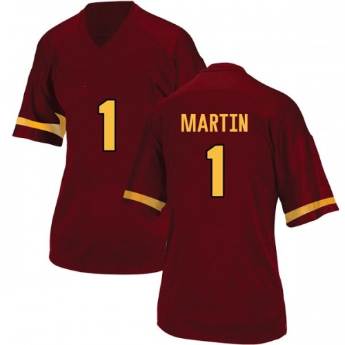 Women's Adidas Remy Martin Arizona State Sun Devils Game Maroon Football College Jersey