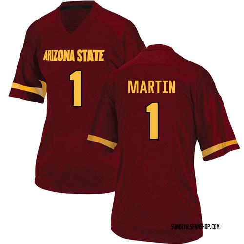 Women's Adidas Remy Martin Arizona State Sun Devils Replica Maroon Football College Jersey