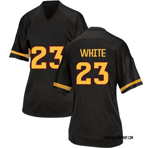 Women's Adidas Romello White Arizona State Sun Devils Replica White Black Football College Jersey