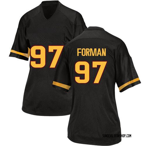 Women's Adidas Shannon Forman Arizona State Sun Devils Game Black Football College Jersey
