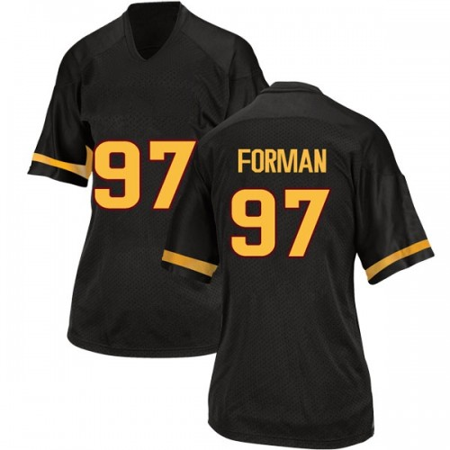 Women's Adidas Shannon Forman Arizona State Sun Devils Replica Black Football College Jersey