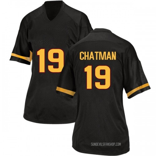 Women's Adidas Terrell Chatman Arizona State Sun Devils Game Black Football College Jersey