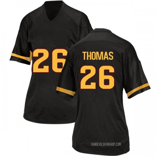 Women's Adidas Ty Thomas Arizona State Sun Devils Replica Black Football College Jersey