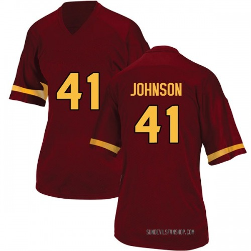 Women's Adidas Tyler Johnson Arizona State Sun Devils Game Maroon Football College Jersey