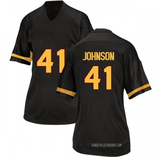 Women's Adidas Tyler Johnson Arizona State Sun Devils Replica Black Football College Jersey