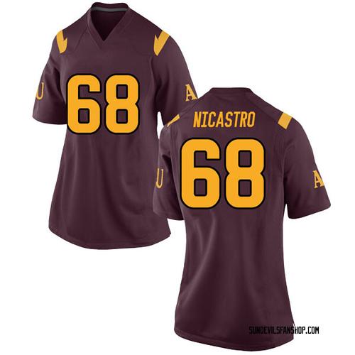 Women's Nike Anthony Nicastro Arizona State Sun Devils Replica Maroon Football College Jersey