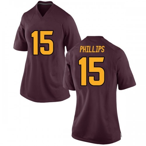 Women's Nike Cam Phillips Arizona State Sun Devils Game Maroon Football College Jersey