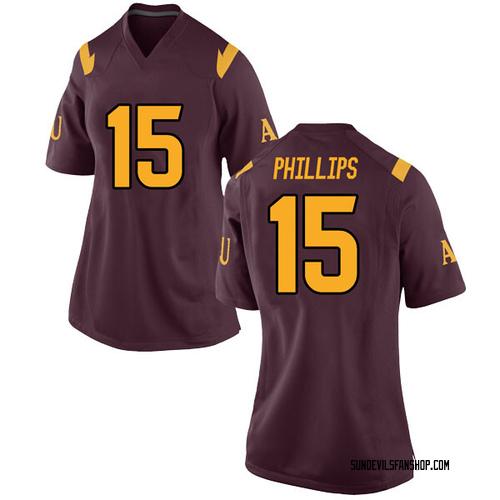 Women's Nike Cam Phillips Arizona State Sun Devils Replica Maroon Football College Jersey