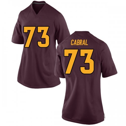 Women's Nike Cohl Cabral Arizona State Sun Devils Game Maroon Football College Jersey