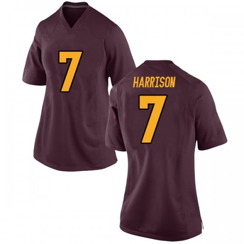 Women's Nike Dominique Harrison Arizona State Sun Devils Game Maroon Football College Jersey