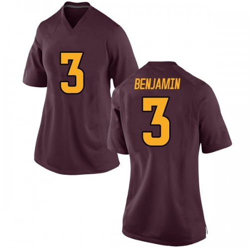Women's Nike Eno Benjamin Arizona State Sun Devils Game Maroon Football College Jersey
