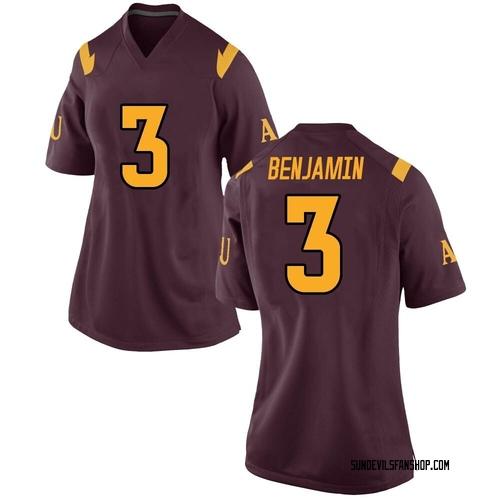 Women's Nike Eno Benjamin Arizona State Sun Devils Replica Maroon Football College Jersey