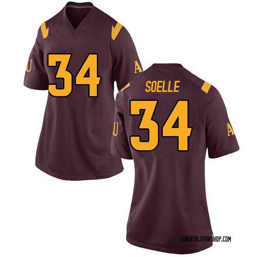 Women's Nike Kyle Soelle Arizona State Sun Devils Game Maroon Football College Jersey