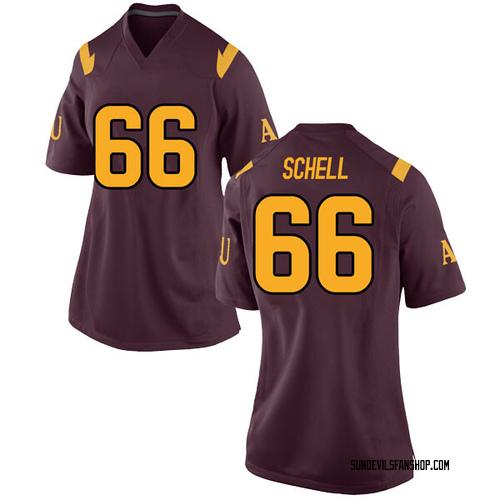 Women's Nike Mason Schell Arizona State Sun Devils Game Maroon Football College Jersey