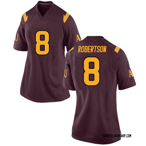 Women's Nike Merlin Robertson Arizona State Sun Devils Game Maroon Football College Jersey