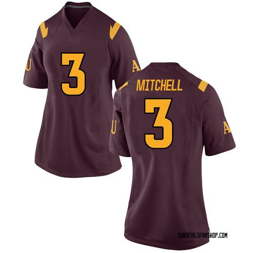 Women's Nike Mickey Mitchell Arizona State Sun Devils Replica Maroon Football College Jersey