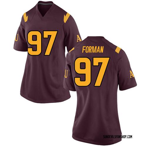 Women's Nike Shannon Forman Arizona State Sun Devils Game Maroon Football College Jersey