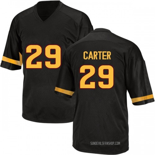Youth Adidas A.J. Carter Arizona State Sun Devils Game Black Football College Jersey