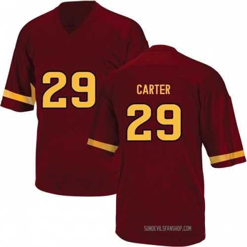Youth Adidas A.J. Carter Arizona State Sun Devils Replica Maroon Football College Jersey