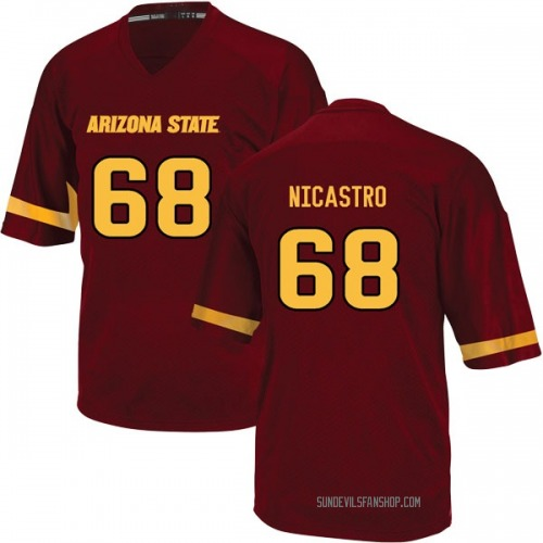 Youth Adidas Anthony Nicastro Arizona State Sun Devils Game Maroon Football College Jersey