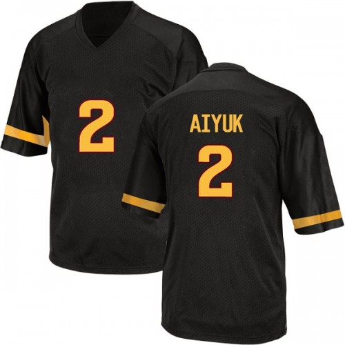Youth Adidas Brandon Aiyuk Arizona State Sun Devils Game Black Football College Jersey