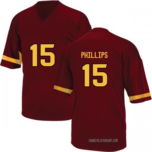 Youth Adidas Cam Phillips Arizona State Sun Devils Replica Maroon Football College Jersey