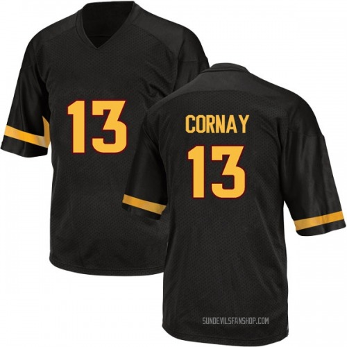 Youth Adidas Darien Cornay Arizona State Sun Devils Game Black Football College Jersey
