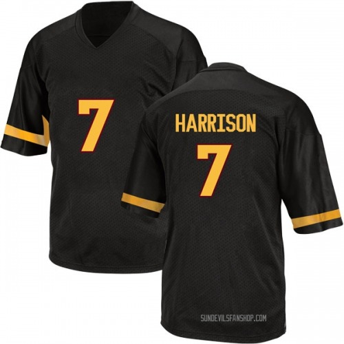 Youth Adidas Dominique Harrison Arizona State Sun Devils Game Black Football College Jersey