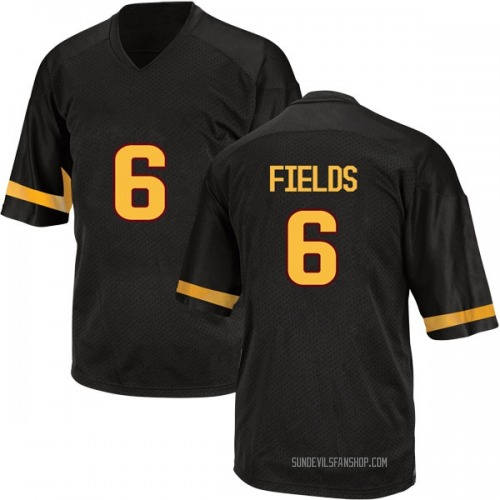 Youth Adidas Evan Fields Arizona State Sun Devils Game Black Football College Jersey